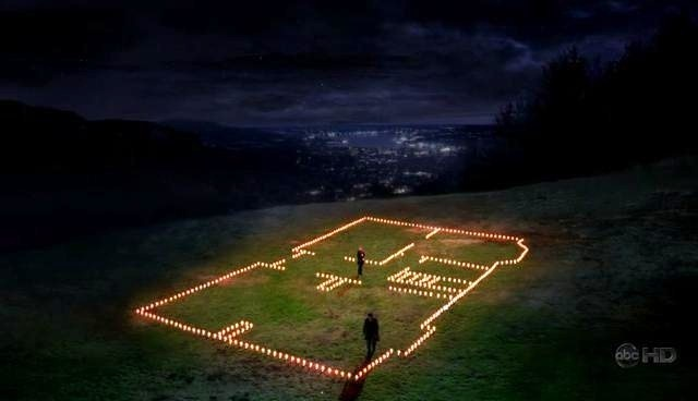 Derek and Meredith's house of candles. one of my favorite episodes..