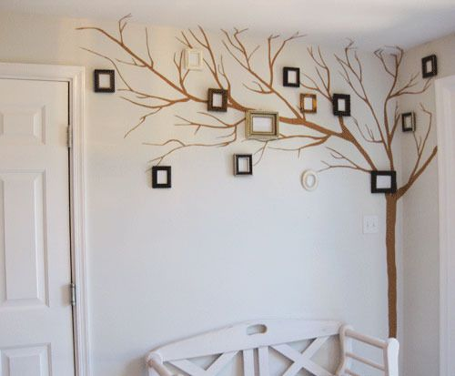 Tree + Family! DIY idea to showcase family pictures with whimsy and style. Love it.
