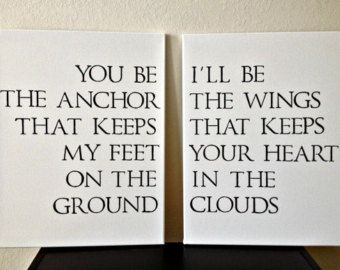 Anchor Quotes On Canvases | 16x20inch Quote on Canvas - You Be The Anchor That Keeps My Feet On ...