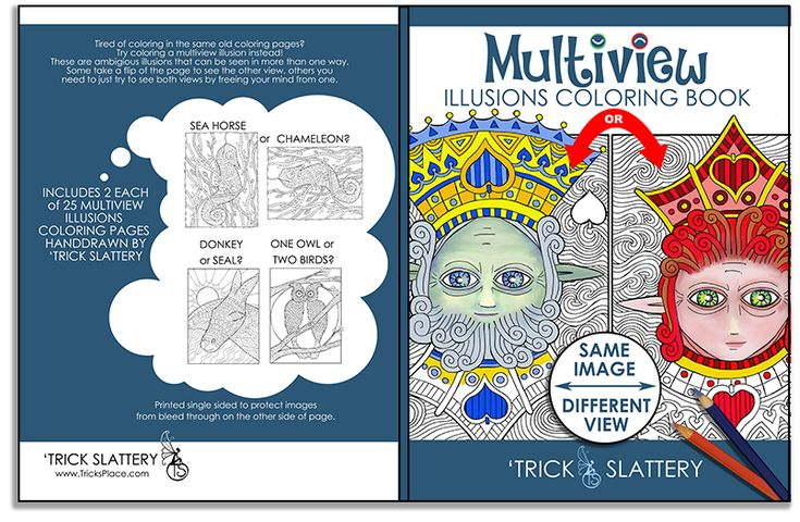 Multiview Illusions Coloring Book: http://tricksplace.com/multiview-illusions-coloring-book/  #coloring #coloring #coloringbook #coloringbook #adultcoloring #adultcolouring #opticalillusions #coloringforadults