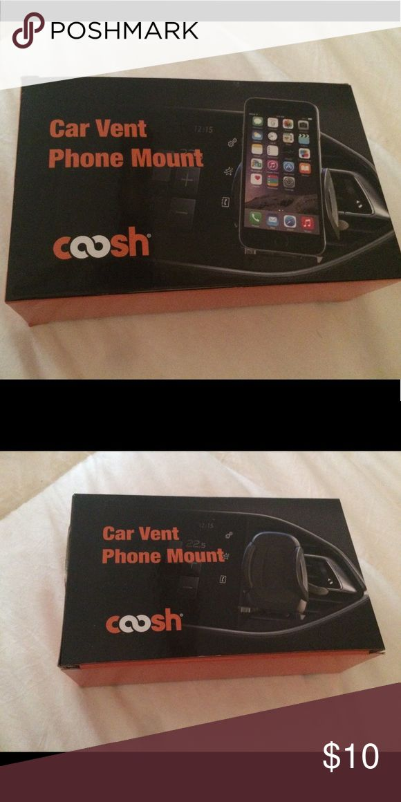 Coosh car vent phone mount Brand new, never used car vent phone mount Coosh Accessories Phone Cases