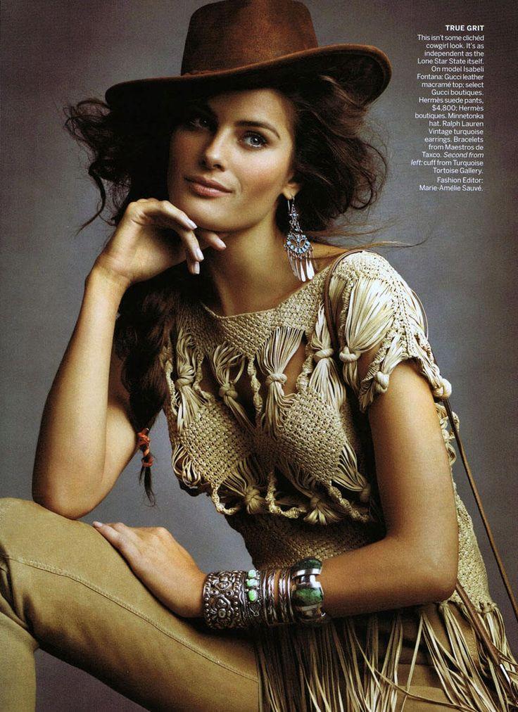 """America The Beautiful"" | Model: Isabeli Fontana, Photographer: Craig McDean, Vogue US, June 2011"