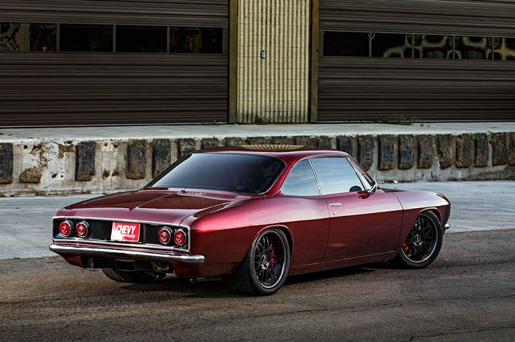 """Unconventional at any speed? JB Granger was definitely thinking outside the box when he built this amazing """"FnNader"""" '66 #Chevy #Corvair. This pro-touring unicorn is powered by a fuel injected 364ci LS2 mated to a Mendeola 5-speed transmission and rides on 18x9/18x12 #Forgeline DE3P wheels finished with Satin Black centers & Transparent Smoke outers! See more at: http://www.forgeline.com/customer_gallery_view.php?cvk=1864  Photos by McGaffin Digital Photography courtesy of Super Chevy…"""