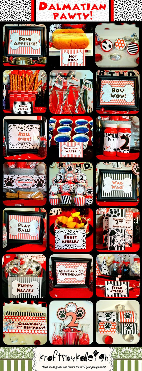 Disney 101 Dalmatian Birthday Party Package by KraftsbyKaleigh