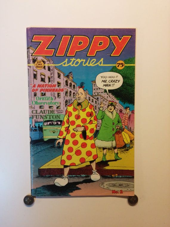 1977-78 ZIPPY STORIES No. 2 - 0.75 cover price, Rip Off Press, Adult, Underground Comic - Zippy The Pinhead, 9+ Near Mint, Booklet Size