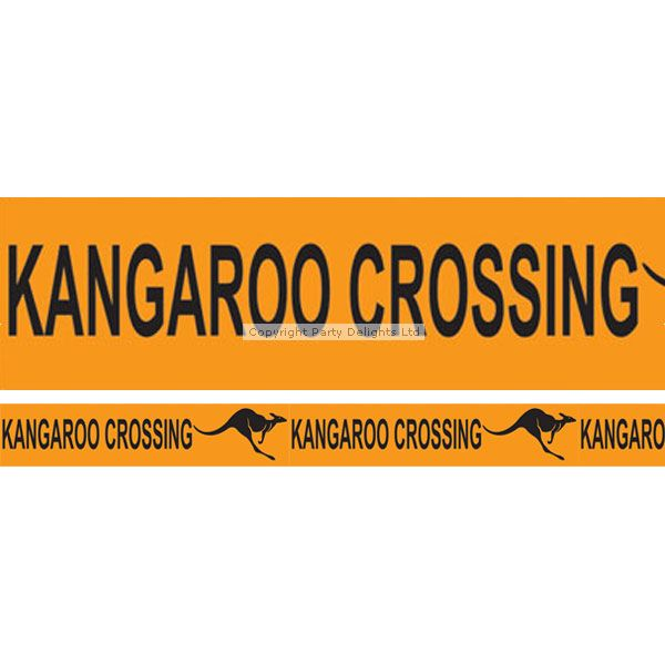 No Australian themed party is complete without a roll of 'kangaroo crossing' tape! The perfect addition to your Australia Day decorations.