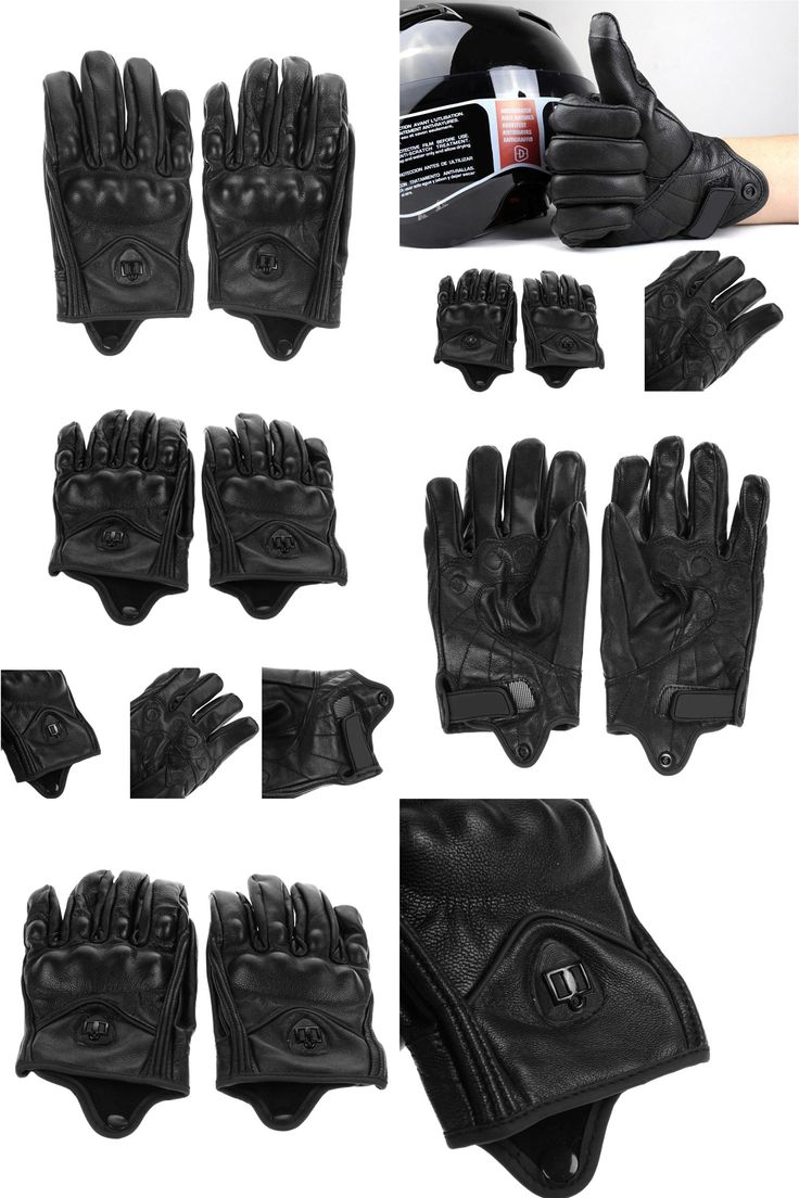 Diavolo leather motorcycle gloves -  Visit To Buy Stylish Leather Motorcycle Gloves Protective Armor Short Gloves M L