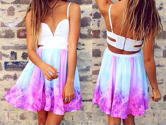 Galaxy Backless Summer Dress on Etsy, $40.00