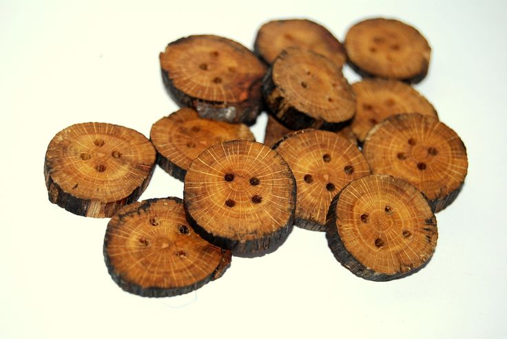 14 Wooden buttons of spalted beech 3/4 - 1  inch wide  #1 by Scandicreations on Etsy