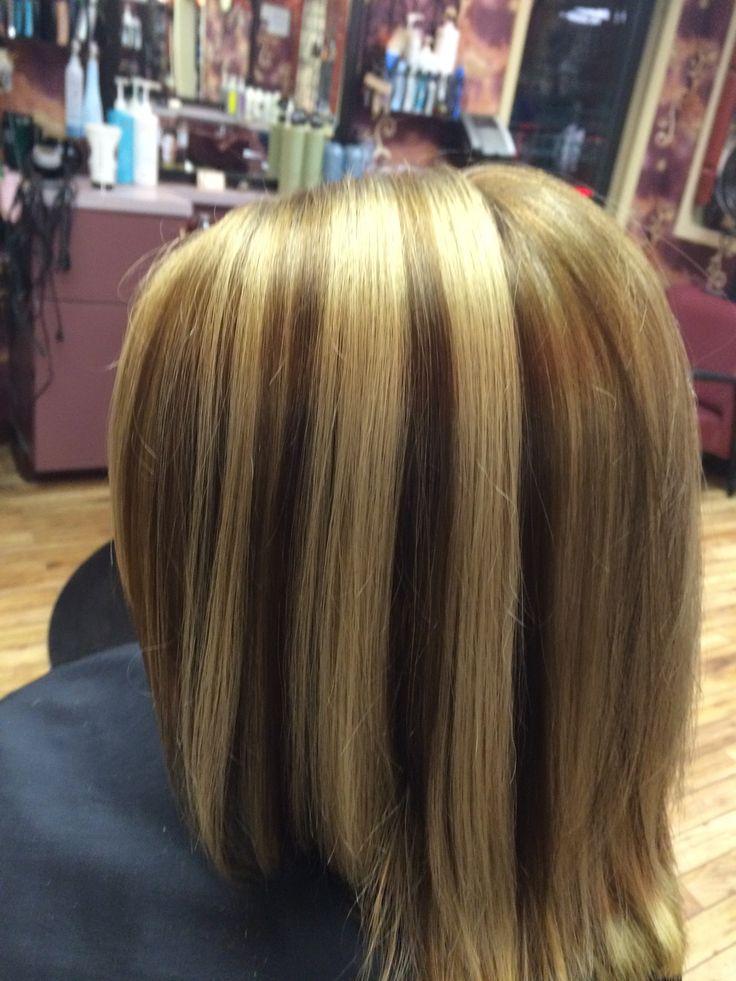 Low lights on blonde hair
