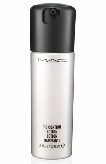 MAC Oil Control Lotion for those of us with oily skin.  Keeps your face from looking to shiny/oily.  Helps makeup stay put.