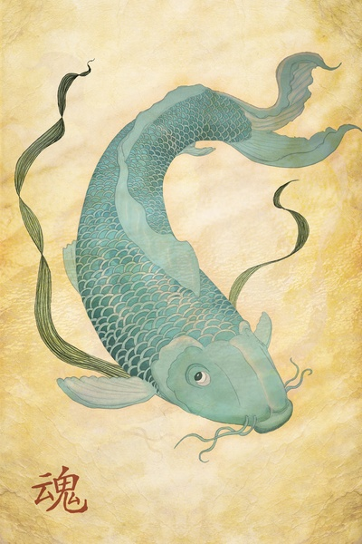 1000 images about for the house on pinterest koi With kitchen cabinets lowes with koi fish wall art