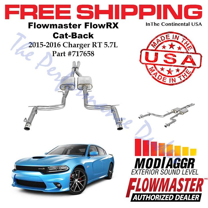 Same Business Day Shipping Flowmaster FlowFX Cat-Back 409 SS fits 2015-2016 Charger R/T 5.7L - 717658