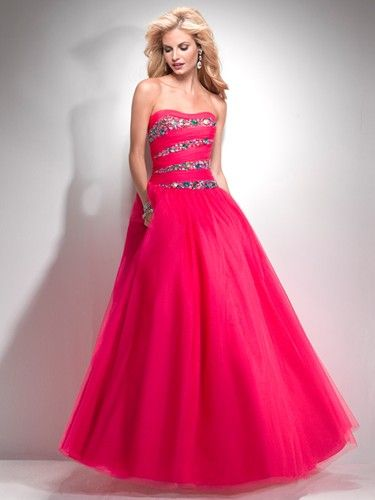Pink prom dress from Flirt by Maggie Sottero.