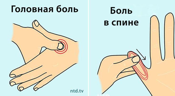 Вот 4 точки на руках, массаж которых снимет любую боль