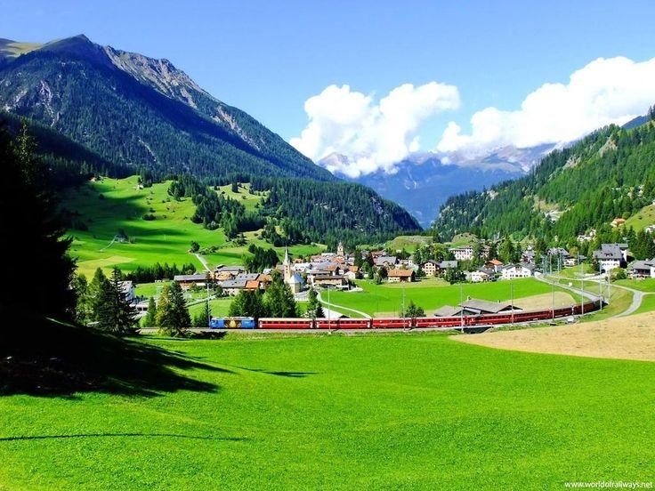 Pastoral bir rüya, İsviçre dağ köyleri