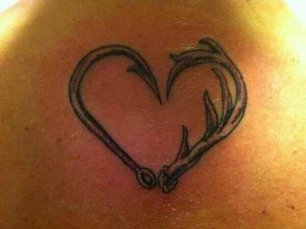 Hunting tattoo.  Two of my passions. Fishing & deer hunting I love this, defiantyl one of my favorites