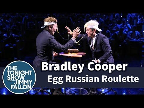Freaking hilarious! Bradley Cooper and Jimmy Fallon Compete in a Surprisingly Tense Game of Egg Russian Roulette on 'The Tonight Show'