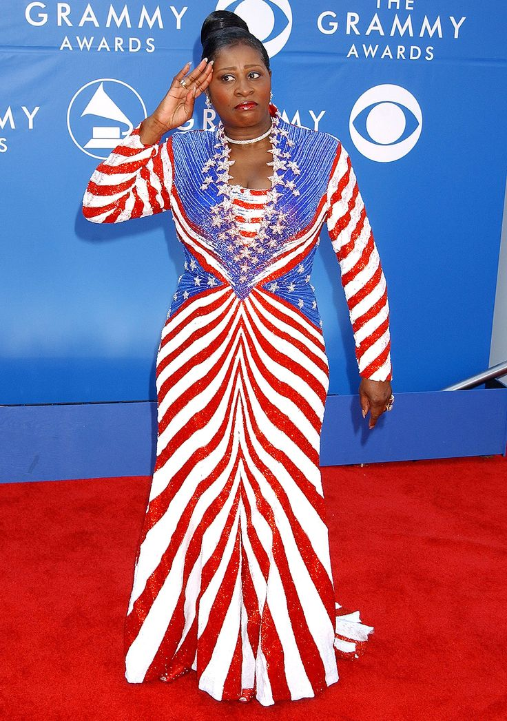 4th of July patriotic fashion: Celebrities in red, white ...