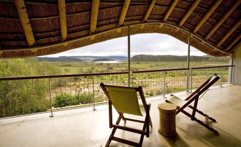 Gondwana Lodge Sanbona This family friendly lodge is located in the Big 5 Sanbona Game Reserve in South Africa. It overlooks a dam which attract excellent numbers of birds and wildlife.