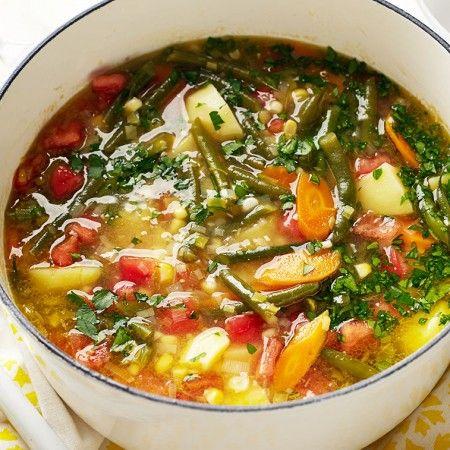 Alton Brown's Garden Vegetable Soup as seen on Food Network