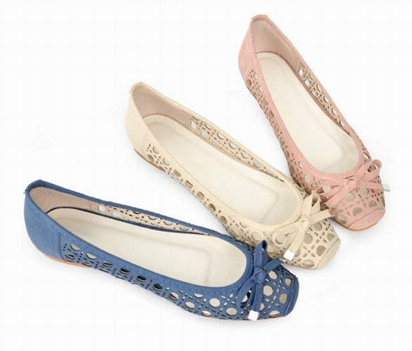 Casual Women's Flat Shoes With Bowknot Square Head and Openwork Design (PINK,41) China Wholesale - Sammydress.com