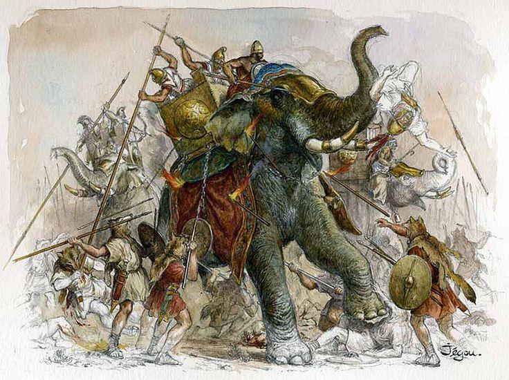 Resultado de imagen de christian jegou illustrateur beneventum bataille