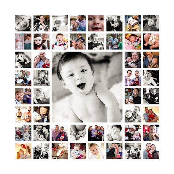 20″x20″ Photo Collage Canvas AND Digital File