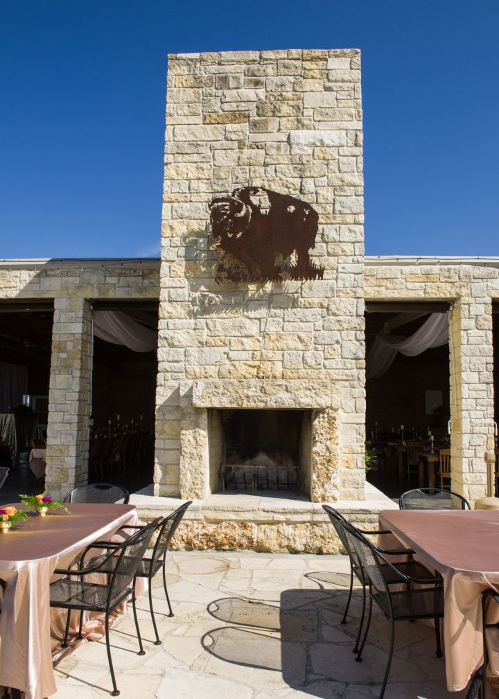 outdoor wedding venues dfw texas%0A emerys buffalo creek bellville  buffalo  outdoor fireplace  wedding seating