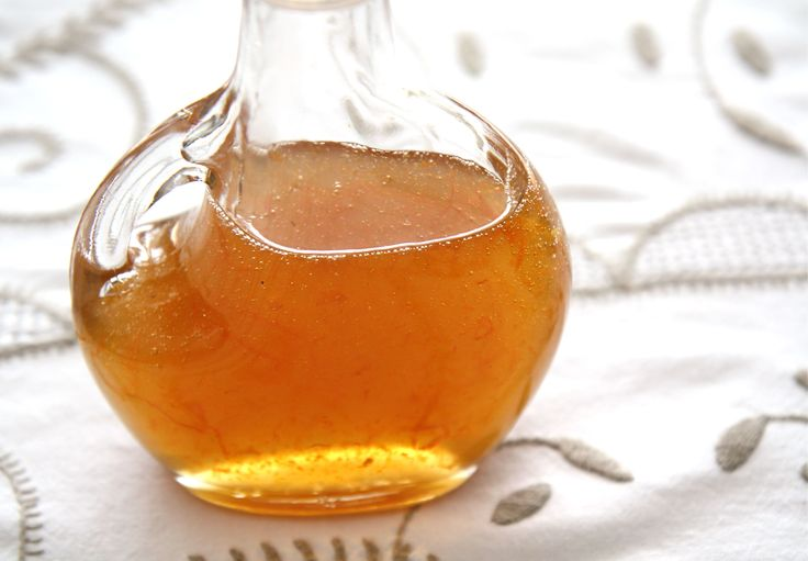 Homemade honey-orange syrup.  An organic and healthy alternative to store-bought maple syrup.