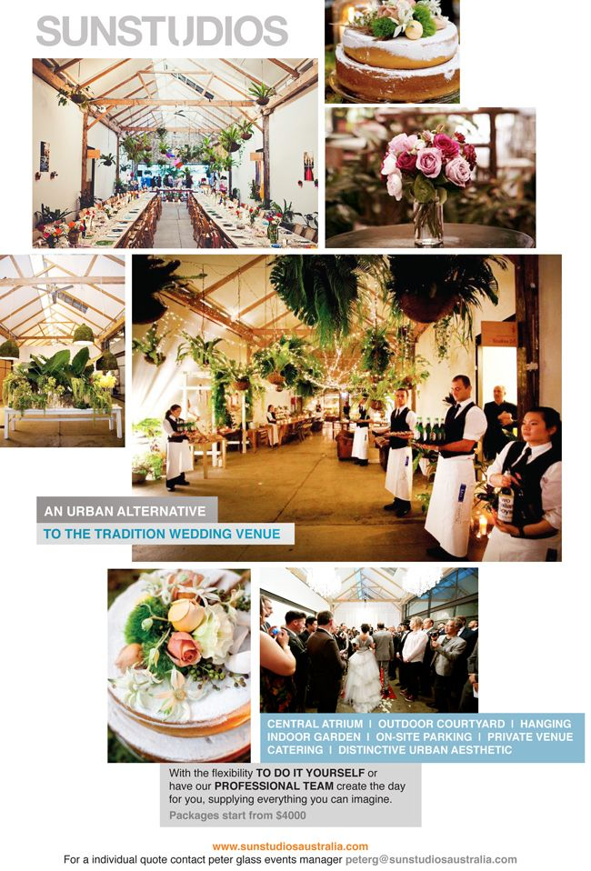 103 best real deal the venues images on pinterest wedding ideas sun studios alternative wedding venueevent venueswedding venuessydneywedding stuffwedding solutioingenieria Gallery