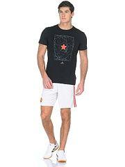 Спортивные шорты (трикотаж) MUFC H SHO WHITE/REARED Adidas