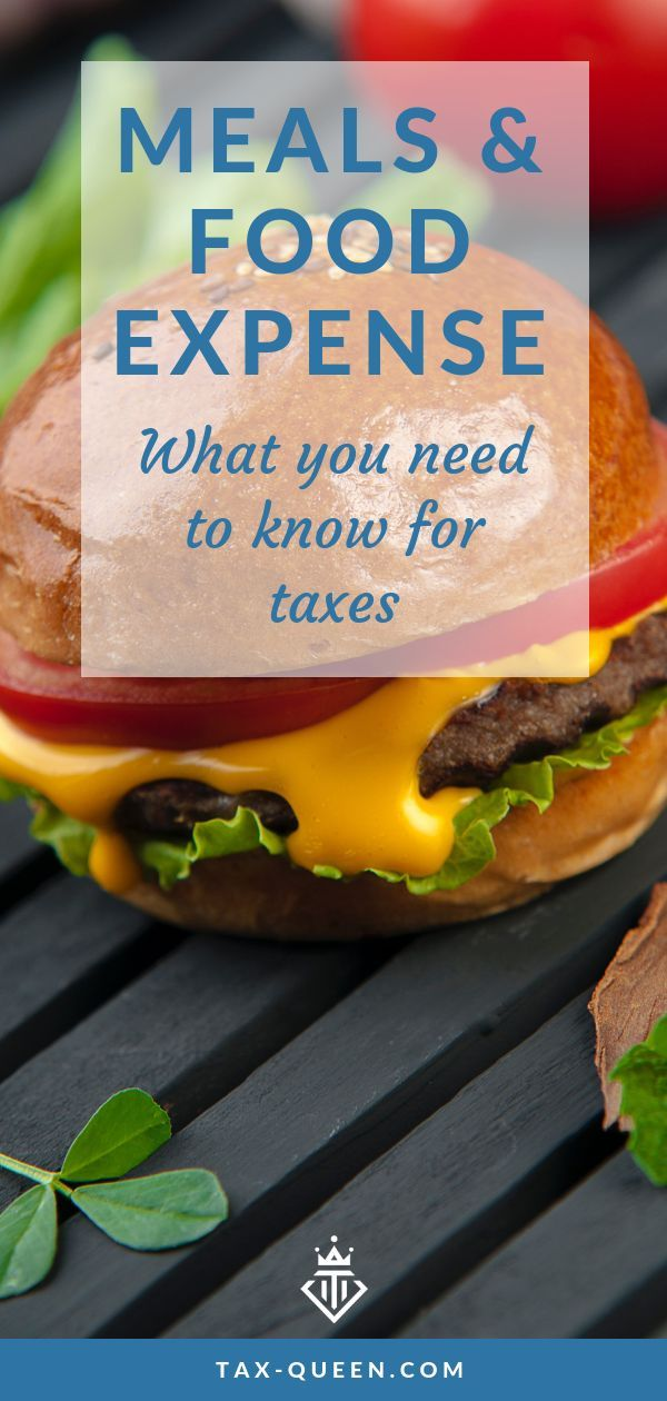 how to handle food and meals expenses for 2018 running a business