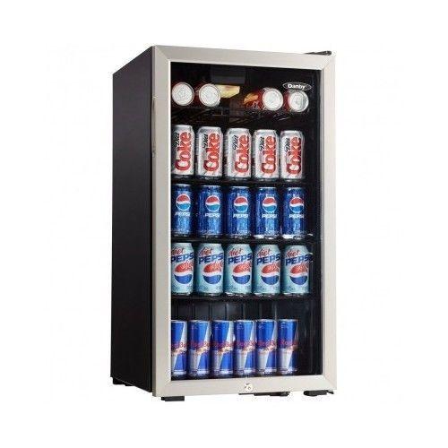 Beverage Cooler Mini Fridge Soda Beer Wine Bottles Home
