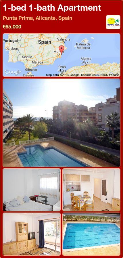 1-bed 1-bath Apartment for Sale in Punta Prima, Alicante, Spain ►€65,000
