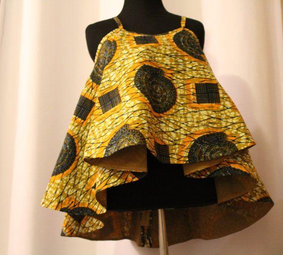 Tissu africain Spaghetti court chemisier par AnsabasEtem sur Etsy