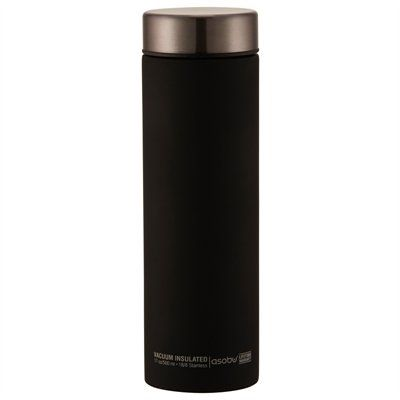 Asobu's stylish insulated travel bottle keeps beverages cold for up to 24 hours and hot for up to 8 hours. Its slender profile makes it the perfect travel companion to slide into laptop bags, carry-on luggage and backpacks, while its smooth matte finish and sleek contrasting top make it a standout in the travel bottle crowd. 17-oz./500ml capacity. Hand-wash.