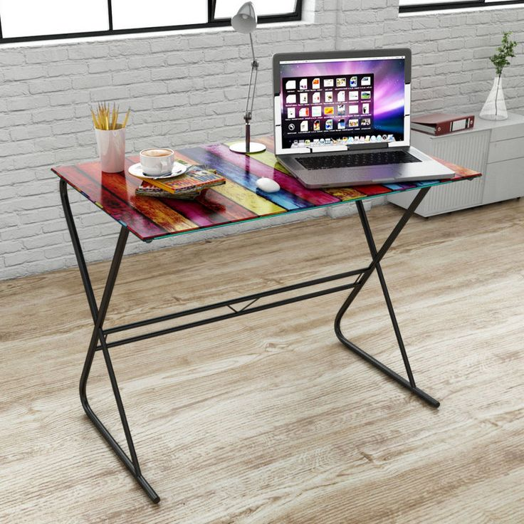 Glass Office Desk Home Computer Laptop Table Modern Contemporary Furniture New