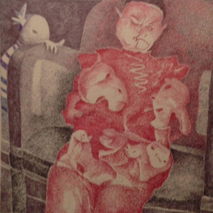 Dame rouge © Jacques Prébet