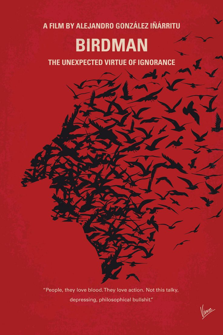 Poster design winners - Birdman Or The Unexpected Virtue Of Ignorance Minimal Movie Poster Art Print By Chungkong