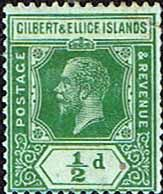 Gilbert and Ellice Islands 1922 King George V SG 27 Fine Used SG 27 Scott 27 More British Commonwealth empire and Colonial Stamps Here