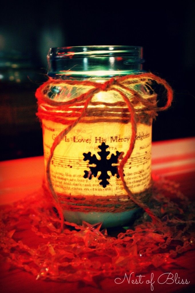 Diy sheet music mason jar candle decorations pinterest for Diy candle jar decorations