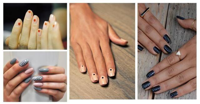 Interesują Cię najnowsze trendy manicure? Poznaj nowe inspirujące wzory na paznokcie w tym sezonie. #kropki #paznokcie w kropki #paznokcie #manicure
