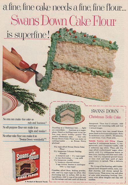 "Christmas Belle Cake Recipe from ""Good Housekeeping Magazine"" | December 1952"