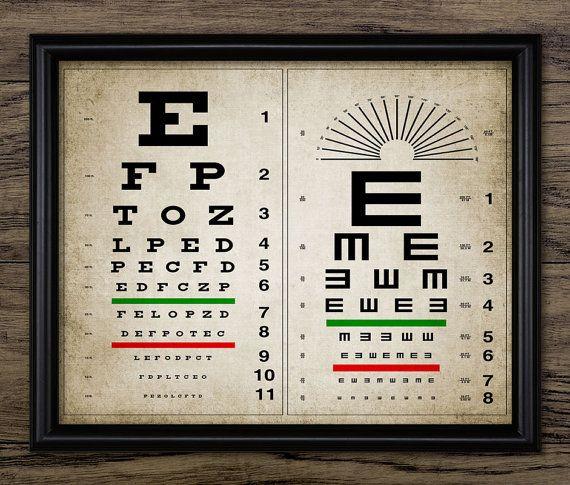 Vintage oog grafiek afdrukken menselijk oog door InstantGraphics