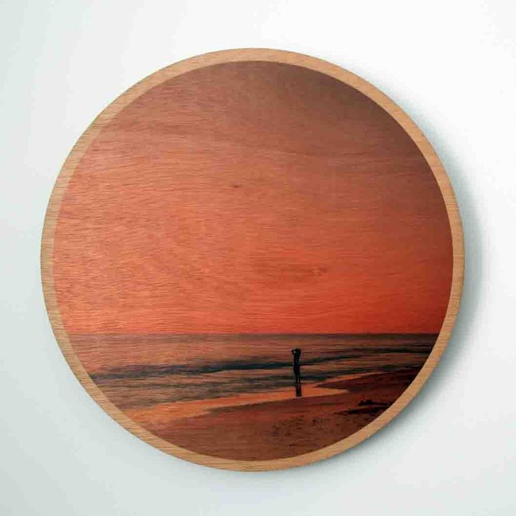 Jo Ward Photography Perth's Backyard Wood Print Somebody appreciating what's in Perth's own backyard 290 mm diameter image printed directly onto 6mm marine grade plywood using UV print technology.  Comes complete with a ready to hang aluminium wall mount system