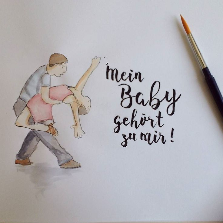 Mein Baby gehört zu mir! (#letterattackchallenge von @FrauHoelle)  #lettering #handlettering #brushlettering #brushpen #handwritten #typography #watercolor #doodle #sketchbook #quote #dirtydancing