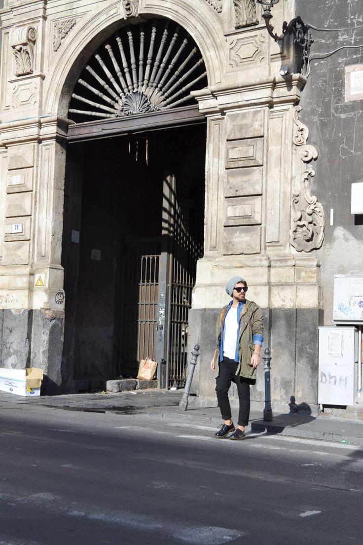 It' time to Parka!! Parka: Daniele Alessandrini Pants: Pull&bear T-shirt: H&M Denim Shirt: Zara Woolen cap: Alcott Sunnies: H&M Shoes: Dr. Martens