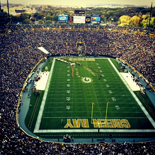 Lambeau Field.....  On the Bucket List to go watch a PACKERS game on home turf!