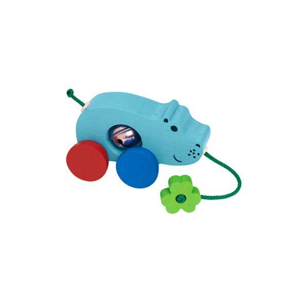 ¡Arrastra al pequeño NilI! Los más pequeños se lo pasarán en grande mientras andan y arrastran a Nili, incorpora un cascabel que lo hará aun más divertido. #juguete #juego #kanikas